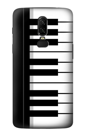 Printed Black and White Piano Keyboard OnePlus 6 Case
