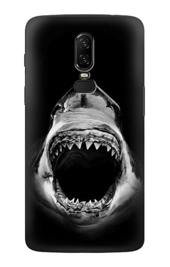Printed Great White Shark OnePlus 6 Case