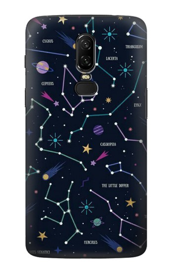 Printed Star Map Zodiac Constellations OnePlus 6 Case