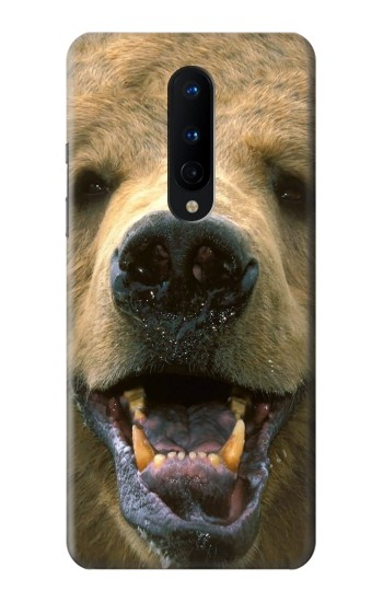 Printed Grizzly Bear Face OnePlus 8 Case
