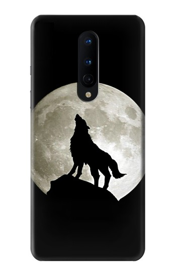 Printed Wolf Howling at The Moon OnePlus 8 Case