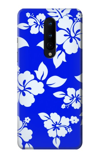 Printed Hawaiian Hibiscus Blue Pattern OnePlus 8 Case