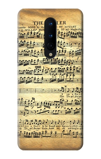 Printed The Fowler Mozart Music Sheet OnePlus 8 Case
