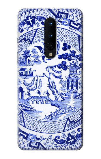 Printed Willow Pattern Illustration OnePlus 8 Case