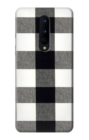 Printed Black and White Buffalo Check Pattern OnePlus 8 Case