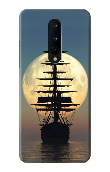 Printed Pirate Ship Moon Night OnePlus 8 Case