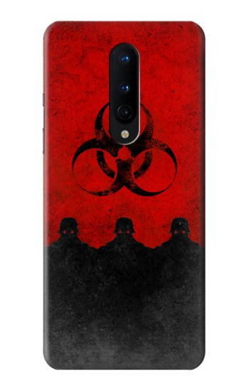Printed Virus Red Alert OnePlus 8 Case