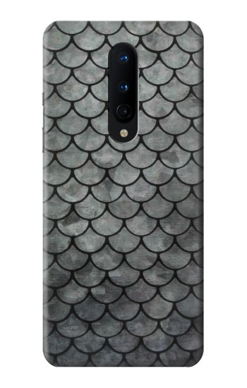 Printed Silver Fish Scale OnePlus 8 Case