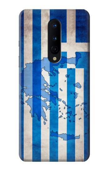 Printed Greece Map Flag OnePlus 8 Case