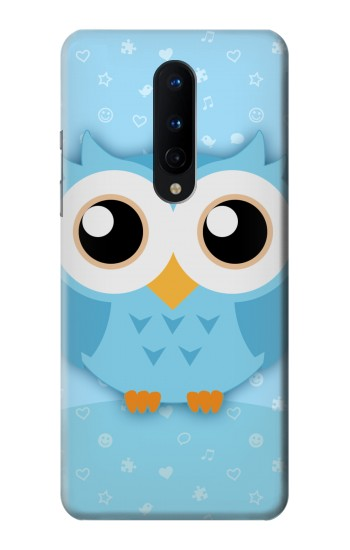 Printed Cute Blue Owl OnePlus 8 Case