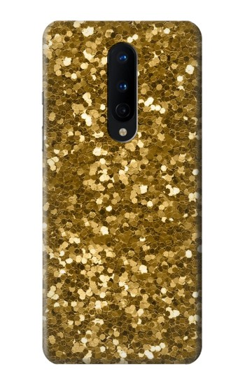 Printed Gold Glitter Graphic Print OnePlus 8 Case