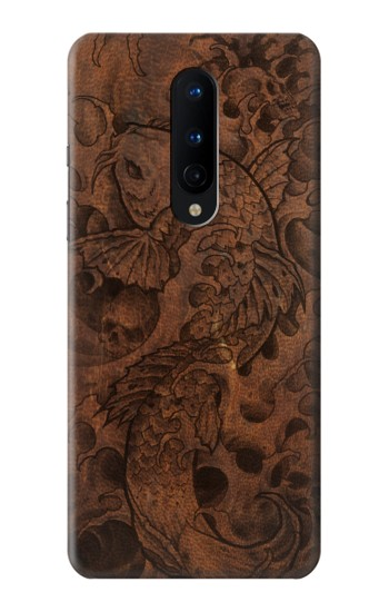 Printed Fish Tattoo Leather Graphic Print OnePlus 8 Case