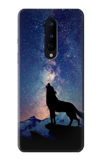 Printed Wolf Howling Million Star OnePlus 8 Case