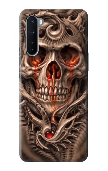 Printed Skull Blood Tattoo OnePlus Nord Case