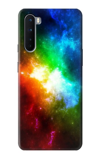 Printed Colorful Rainbow Space Galaxy OnePlus Nord Case