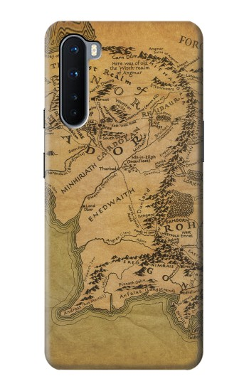 Printed The Lord Of The Rings Middle Earth Map OnePlus Nord Case