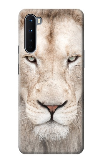 Printed White Lion Face OnePlus Nord Case