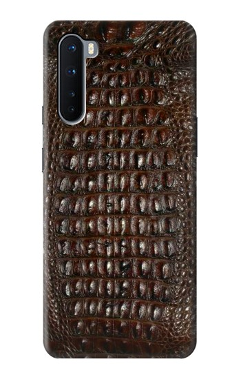 Printed Brown Skin Alligator Graphic Printed OnePlus Nord Case
