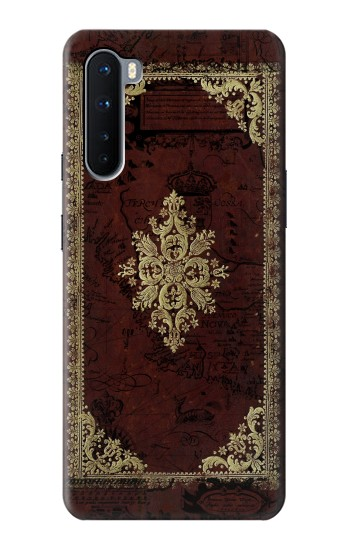 Printed Vintage Map Book Cover OnePlus Nord Case