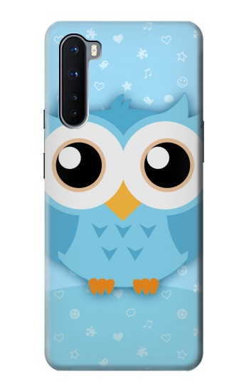 Printed Cute Blue Owl OnePlus Nord Case