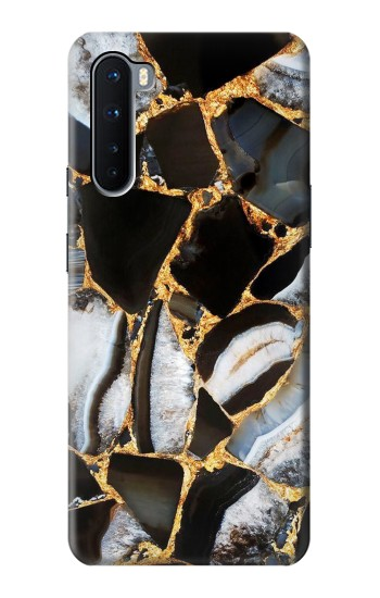 Printed Gold Marble Graphic Print OnePlus Nord Case
