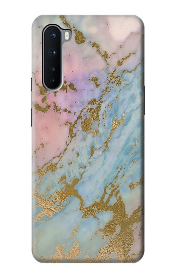 Printed Rose Gold Blue Pastel Marble Graphic Printed OnePlus Nord Case