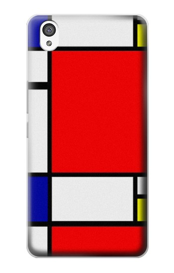 Printed Composition Red Blue Yellow OnePlus X Case