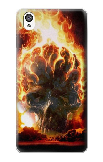 Printed Hell Fire Skull OnePlus X Case