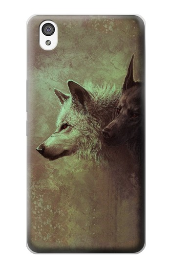 Printed White Black Wolf OnePlus X Case