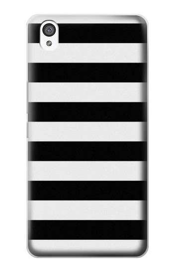 Printed Black and White Striped OnePlus X Case