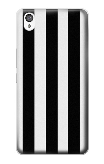 Printed Black and White Vertical Stripes OnePlus X Case