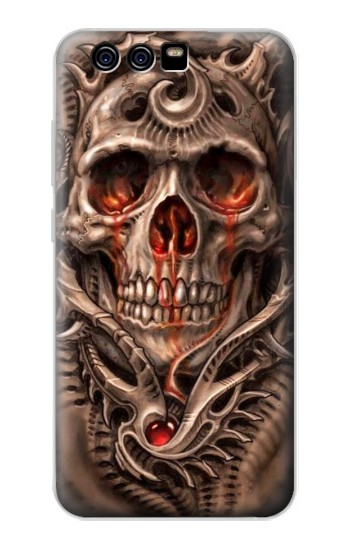 Printed Skull Blood Tattoo alcatel Idol 2 Mini Case