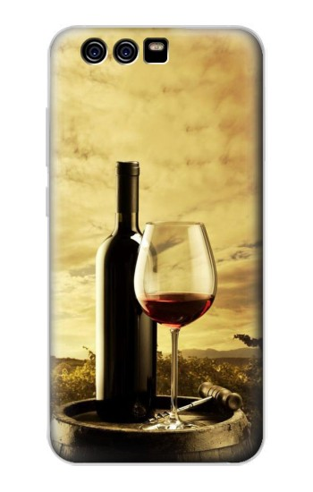 Printed A Grape Vineyard Grapes Bottle and Glass of Red Wine alcatel Idol 2 Mini Case