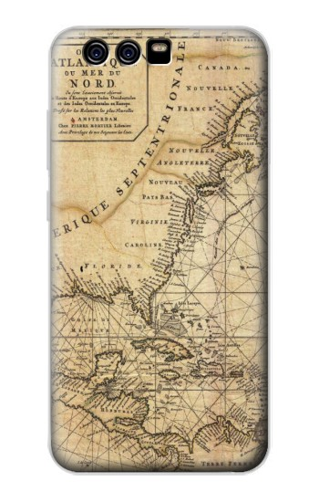 Printed Exploration North America Map alcatel Idol 2 Mini Case