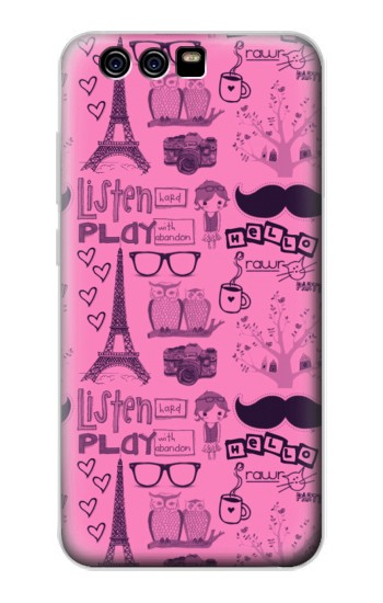 Printed Paris Pink alcatel Idol 2 Mini Case