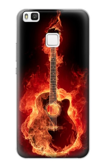 Printed Fire Guitar Burn alcatel Idol 2 S Case