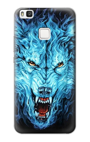 Printed Blue Fire Grim Wolf alcatel Idol 2 S Case