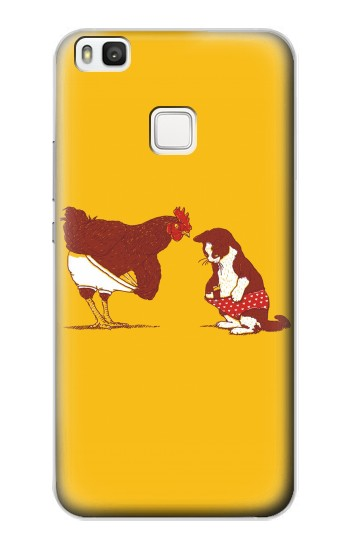 Printed Rooster and Cat Joke alcatel Idol 2 S Case