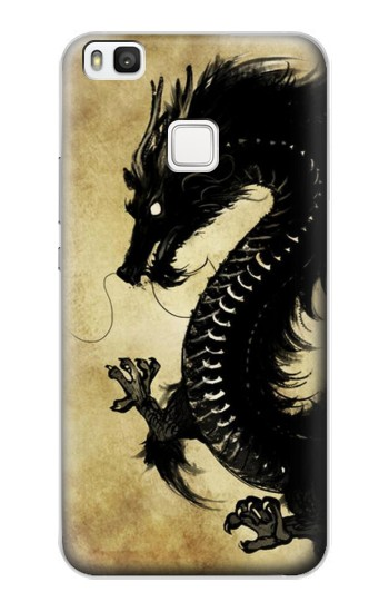 Printed Black Dragon Painting alcatel Idol 2 S Case