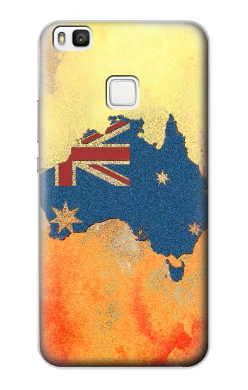 Printed Australia Flag Map Rock Texture alcatel Idol 2 S Case