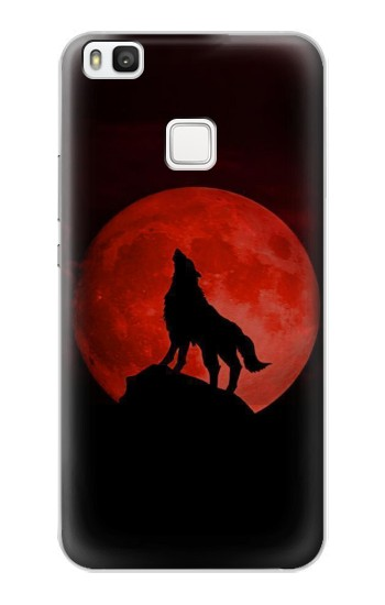 Printed Wolf Howling Red Moon alcatel Idol 2 S Case