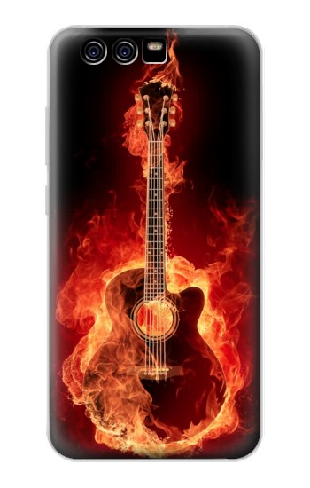Printed Fire Guitar Burn alcatel Idol 2 Mini S Case