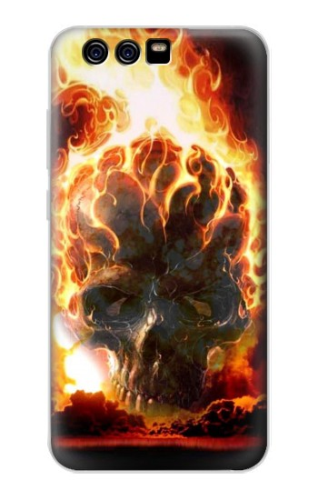 Printed Hell Fire Skull alcatel Idol 2 Mini S Case