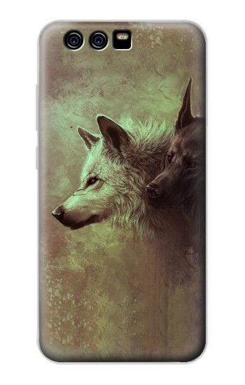 Printed White Black Wolf alcatel Idol 2 Mini S Case