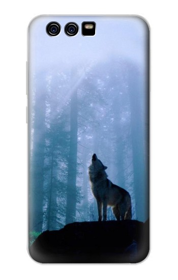 Printed Wolf Howling in Forest alcatel Idol 2 Mini S Case