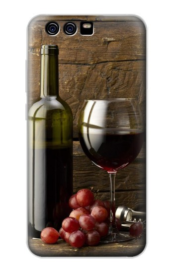 Printed Grapes Bottle and Glass of Red Wine alcatel Idol 2 Mini S Case