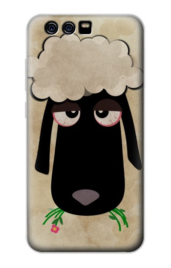 Printed Cute Cartoon Unsleep Black Sheep alcatel Idol 2 Mini S Case