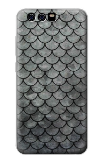 Printed Silver Fish Scale alcatel Idol 2 Mini S Case