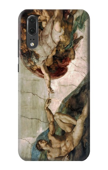 Printed Michelangelo The creation of Adam Huawei P20 Case