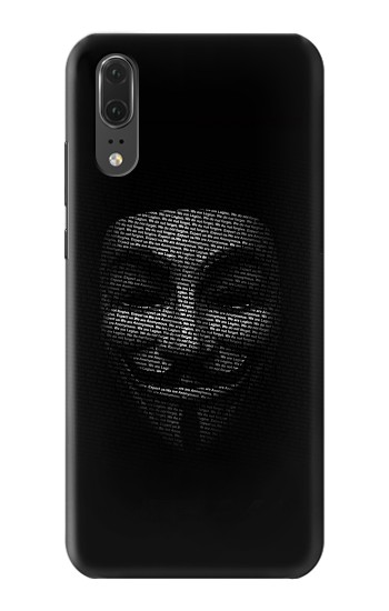 Printed Anonymous mask Huawei P20 Case
